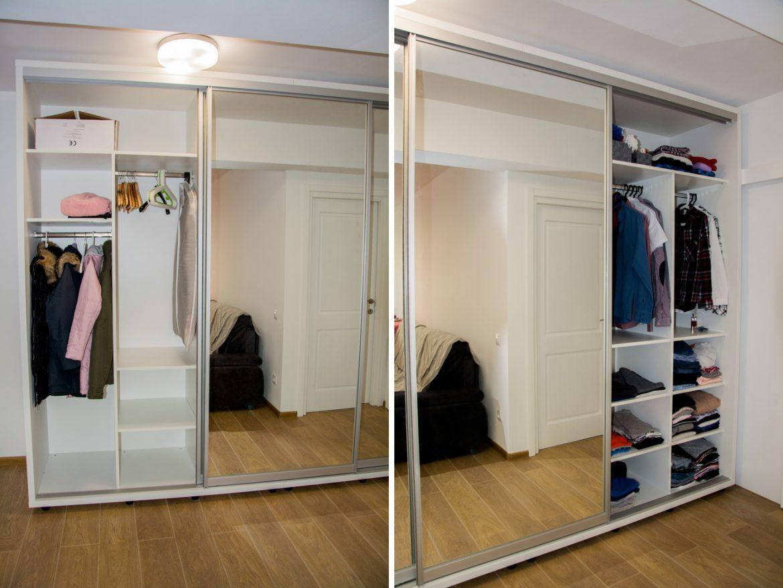 Detali interior dressing cu bara pentru umerase si polite mobile 1