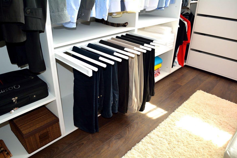 Mobilier la comanda Bacau Compartimentare Dressing Pal ALB W1000ST cu suport pantaloni