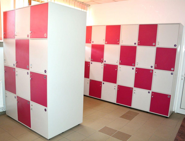 Vestiare modulare Yulmob realizate pe comanda din Pal Gri si Roz Fuchsia cu polite interioare pentru depozitat2017 05 24 at 12.59.13 PM 4