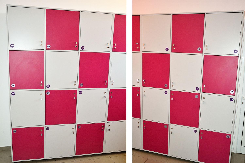 Vestiare modulare Yulmob realizate pe comanda din Pal Gri si Roz Fuchsia cu polite interioare pentru depozitat2017 05 24 at 12.59.13 PM 6