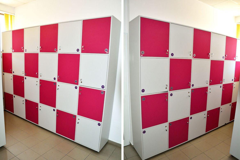 Vestiare modulare Yulmob realizate pe comanda din Pal Gri si Roz Fuchsia cu polite interioare pentru depozitat2017 05 24 at 12.59.13 PM 7