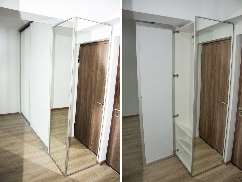 detali dressing la comanda usi si lateral cu ramda din aluminiu cu oglinda folie protectoare 1
