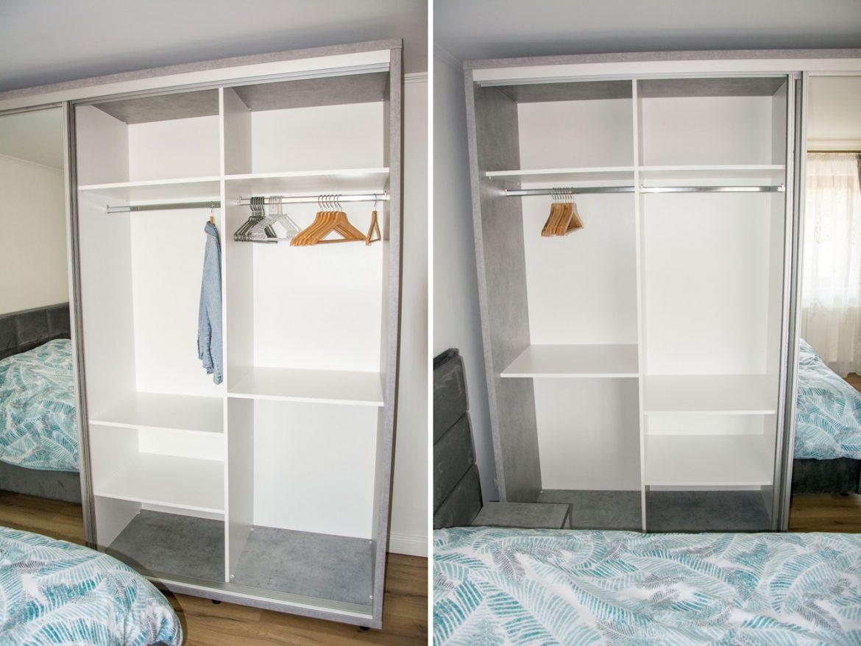 detali interior dressing cu polite mobile si bara de depozitare