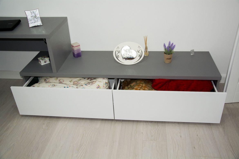 detali sertare blum cu inaltator sertar sticla