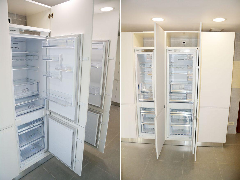 Bucatarie moderna cu combine frigorifice incorporabile Samsung