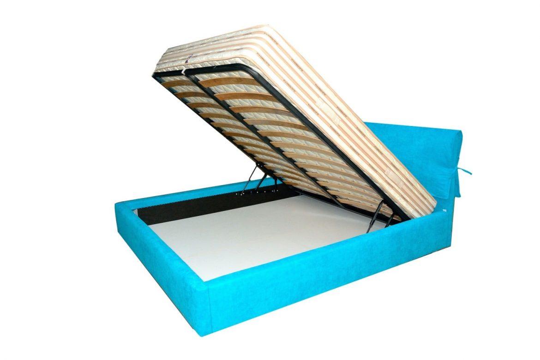 Deschidere lada de depozitare a paturilor tapitate moderne iak.ro cu sistem de rabatare brevetate min