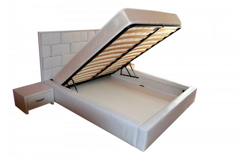Deschidere sistem pat tapitat 160 cu somiera rabatabila cu dechidere usoara si lada pentru depozitat diverse min