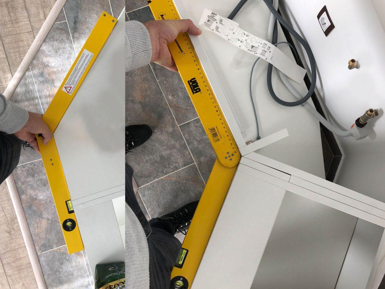 Imbinare corp de colt cu raza de 135 grade
