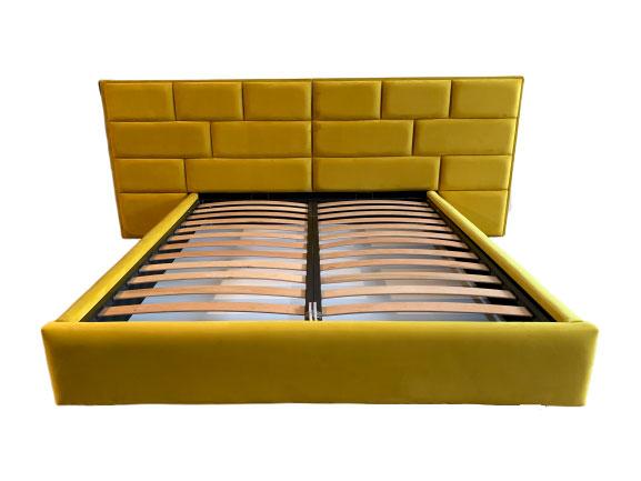 Model pat tapitat Tenerife cu somiera si mecanism de ridicare lada de depozitare coltare de prindere picioare plastic incluse stofa Prestige 2778