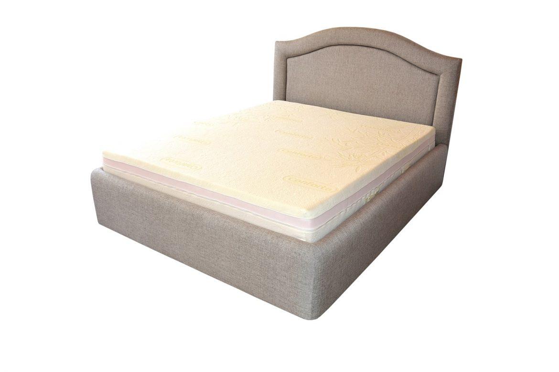 Patul tapitat cu stofa cu design ul deosebit de fin si modern va aduce un plus de confort si de relaxare totala min 1