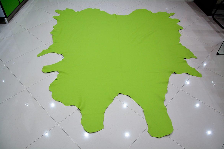 Piele naturala de Bovina de culoare Verde
