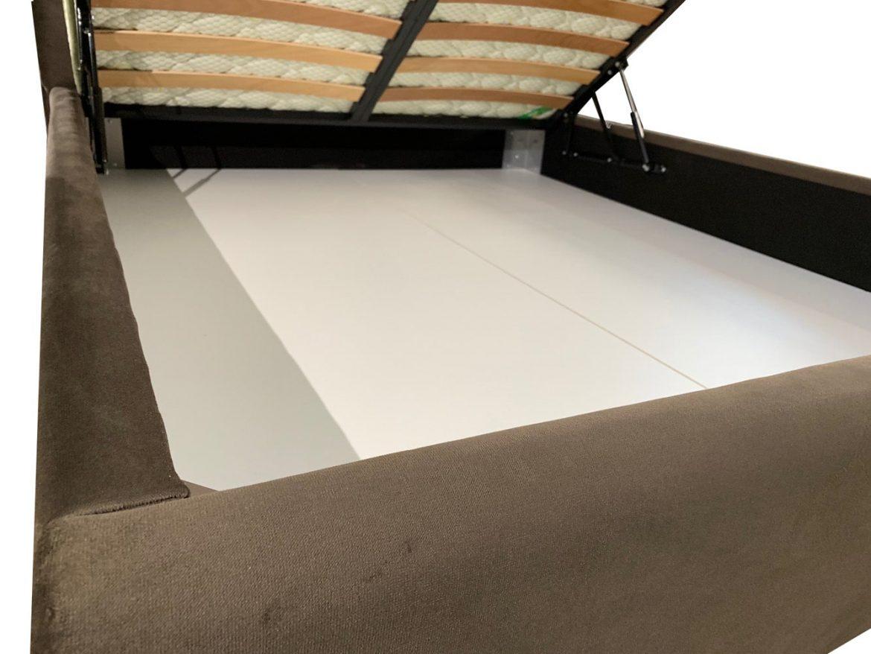 Sistem de ridicare somiera pentru paturi cu lada depozitare asamblate prin prindere cu coltare metalice model iak.ro min