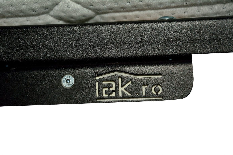 Sistem rabatabil iak.ro de ridicare cu prinderea de somiera de bara metalica cu lamele de lemn stratificat de fag min