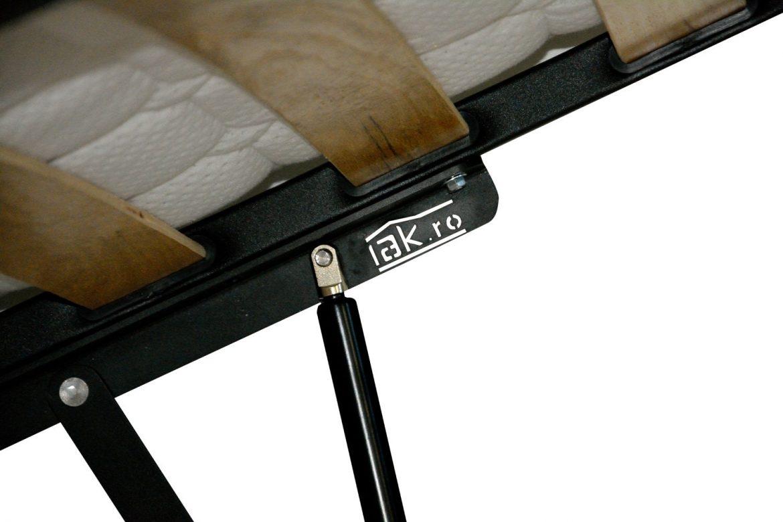 Sistem rabatabil iak.ro pentru somiere metalica rabatabila cu ridicare si coborare usoara cu lamele din lemn stratificat de fag min