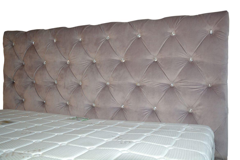 Tablie pat tapitat Paris capitonata cu cristale svarovski 160x200 cu lada depozitare somiera rabatabila din lemn stratificat de fag picioare plastic iak.ro min