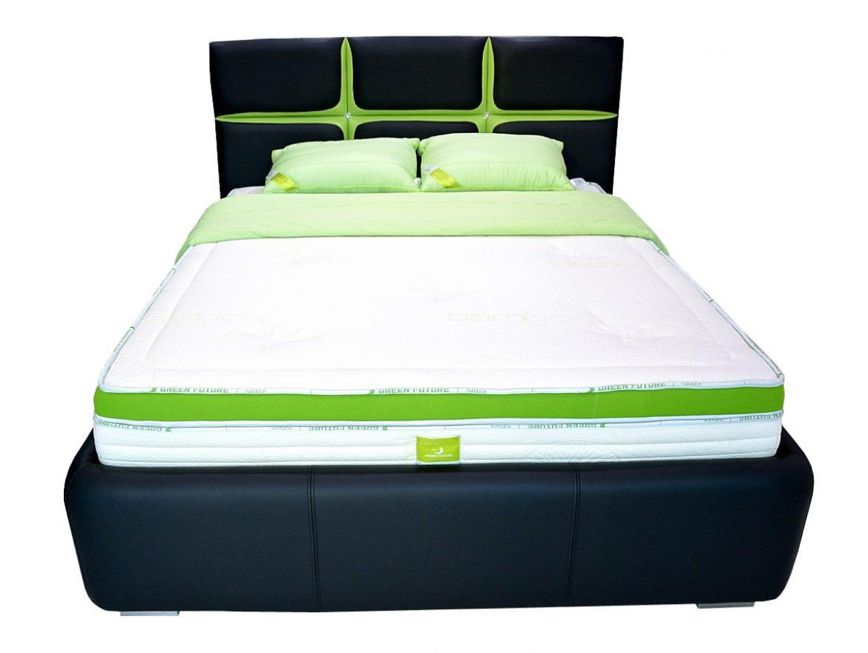 pat tapitat andora din piele naturala de bovina verde cu negru si cristale swarovski min