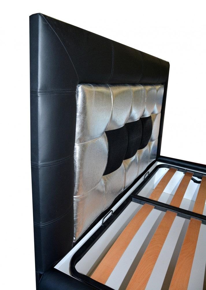 tablie de pat 160 realizata din pal hidrofugat tapitata in piele de bovina naturala si piele imitatie strut piele pisica de mare min