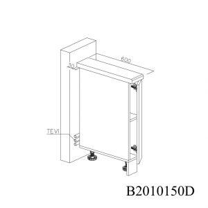 B2010150D Baza cu 1 Usa Verticala 1 polita si 2 Balamale cu Amortizare Blum