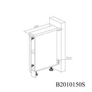 B2010150S Baza cu 1 Usa Verticala 1 polita si 2 Balamale cu Amortizare Blum 1