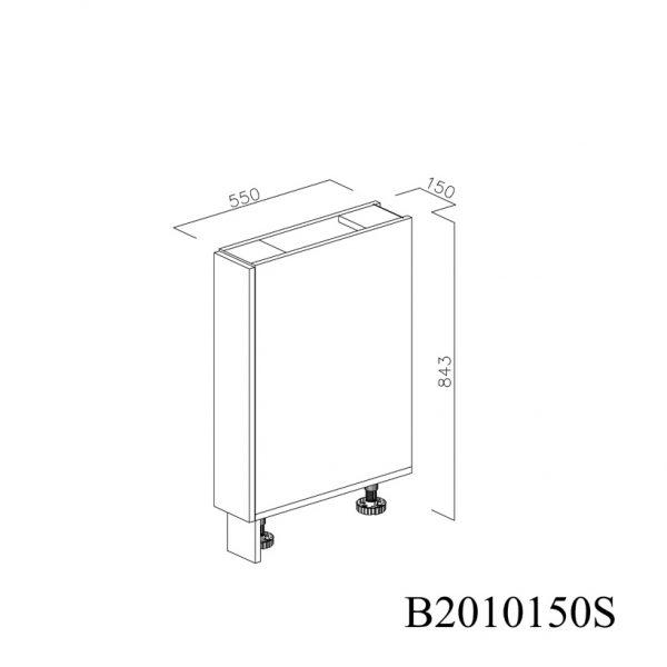 B2010150S Baza cu 1 Usa Verticala 1 polita si 2 Balamale cu Amortizare Blum cu deschidere pe stanga inchisa