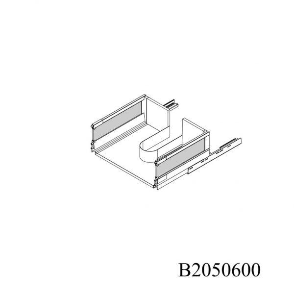B2050600 Baza Masca Chiuveta cu 2 Sertare Tandembox Antaro cu Amortizare Blum sertar