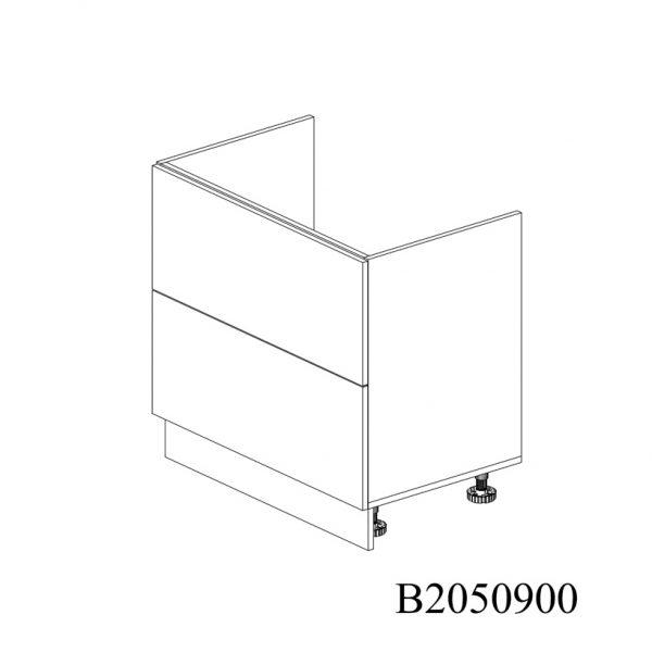 B2050900 Baza Masca Chiuveta cu 2 Sertare Tandembox Antaro cu Amortizare Blum inchise