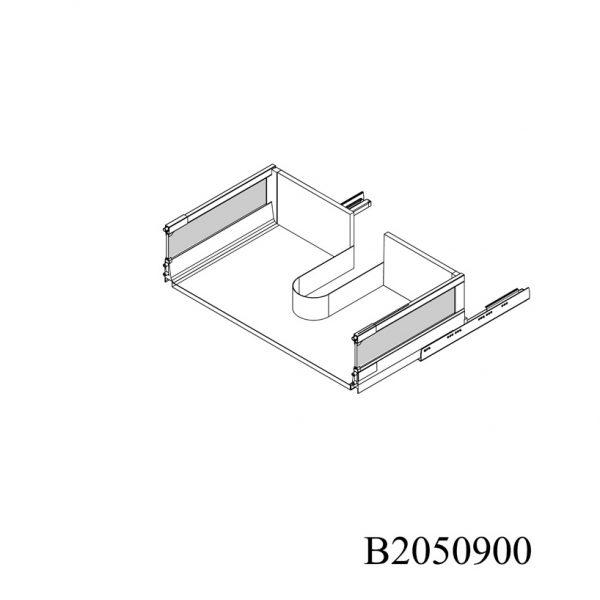 B2050900 Baza Masca Chiuveta cu 2 Sertare Tandembox Antaro cu Amortizare Blum sertar