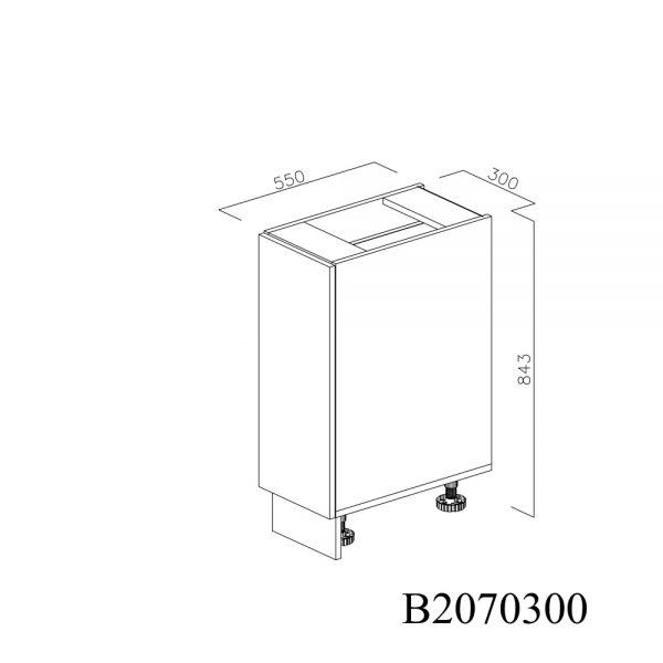 B2070300 Joly cu 1 Sertar Tandembox Antaro cu amortizare Blum si 1 Sertar Tandembox Antaro cu amortizare Blum Interior H 100 inchis