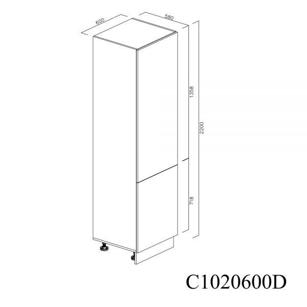 C1020600D Coloana Sertare Space Tower Antaro 5 Buc cu 2 Usi 2 Polite si 5 Balamale cu Amortizare Blum cu deschidere pe dreapta