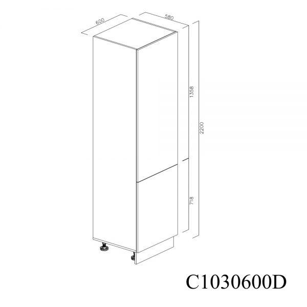 C1030600D Coloana cu 5 Polite cu 2 Usi 5 Polite si 5 Balamale cu Amortizare Blum cu deschidere pe dreapta