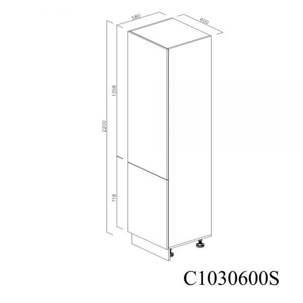 C1030600S Coloana cu 5 Polite cu 2 Usi 5 Polite si 5 Balamale cu Amortizare Blum cu deschidere pe stanga