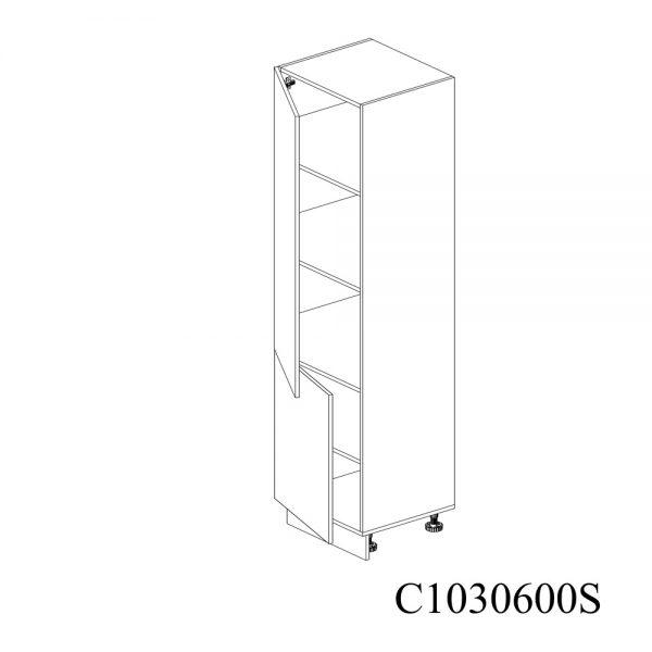 C1030600S Coloana cu 5 Polite cu 2 Usi 5 Polite si 5 Balamale cu Amortizare Blum cu deschidere pe stanga deschis