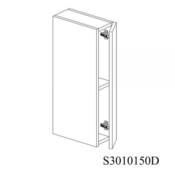 S3010150D Suspendat cu 1 Usa Verticala 1 Polita si 2 Balamale cu Amortizare Blum cu deschidere pe dreapta 1
