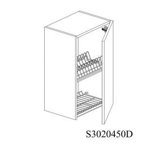 S3020450D Suspendat cu Scurgator Vase Inox cu 1 Usa Verticala si 2 Balamale cu Amortizare Blum cu deschidere pe dreapta 1