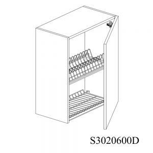 S3020600D Suspendat cu Scurgator Vase Inox cu 1 Usa Verticala si 2 Balamale cu Amortizare Blum cu deschidere pe dreapta 2