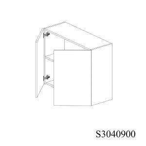 S3040900 Suspendat cu 2 Usi Verticale 1 Polita si 4 Balamale cu Amortizare Blum deschise 2