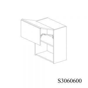 S3060600 Suspendat cu 2 Usi Orizontale 1 Polita si 1 Sistem cu Amortizare Aventos HF Blum deschis 1