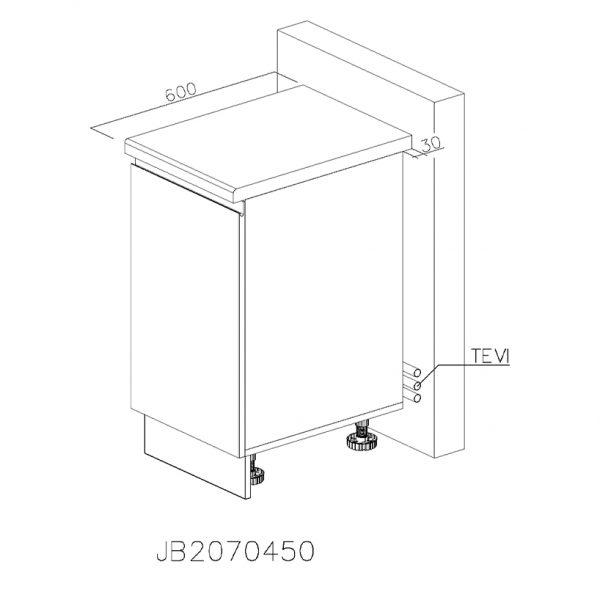 JB2070450 Joly cu 1 Sertar 718 Vertical Antaro cu Amortizare Blum si 1 Sertar Orizontal Antaro cu Amortizare Blum Interior 100