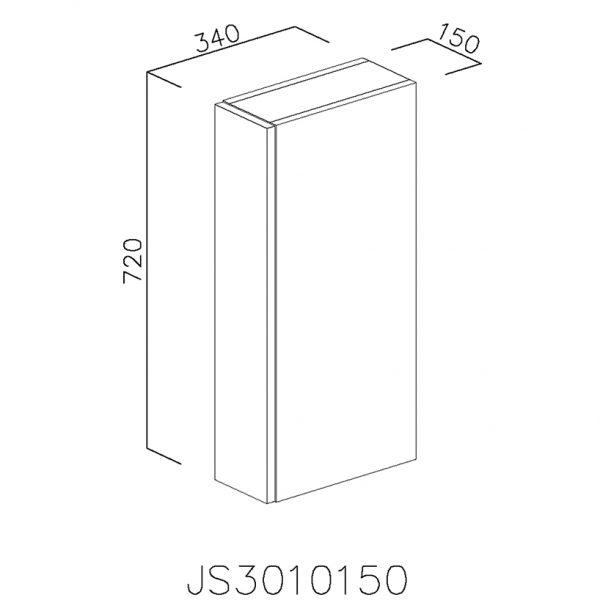 JS3010150 Suspendat cu 1 Usa Verticala 1 Polita si 2 Balamale cu Amortizare Blum