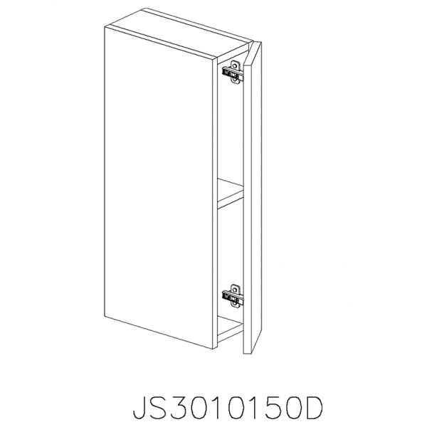 JS3010150D Suspendat cu 1 Usa Verticala 1 Polita si 2 Balamale cu Amortizare Blum cu deschidere pe dreapta