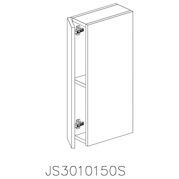 JS3010150S Suspendat cu 1 Usa Verticala 1 Polita si 2 Balamale cu Amortizare Blum cu deschidere pe stanga