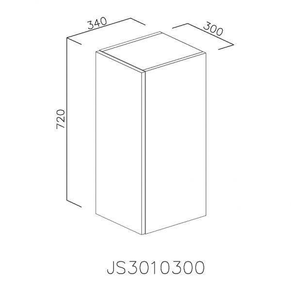 JS3010300 Suspendat cu 1 Usa Verticala 1 Polita si 2 Balamale cu Amortizare Blum
