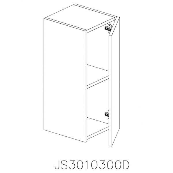 JS3010300D Suspendat cu 1 Usa Verticala 1 Polita si 2 Balamale cu Amortizare Blum cu deschidere pe dreapta