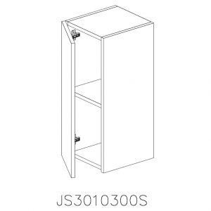 JS3010300S Suspendat cu 1 Usa Verticala 1 Polita si 2 Balamale cu Amortizare Blum cu deschidere pe stanga