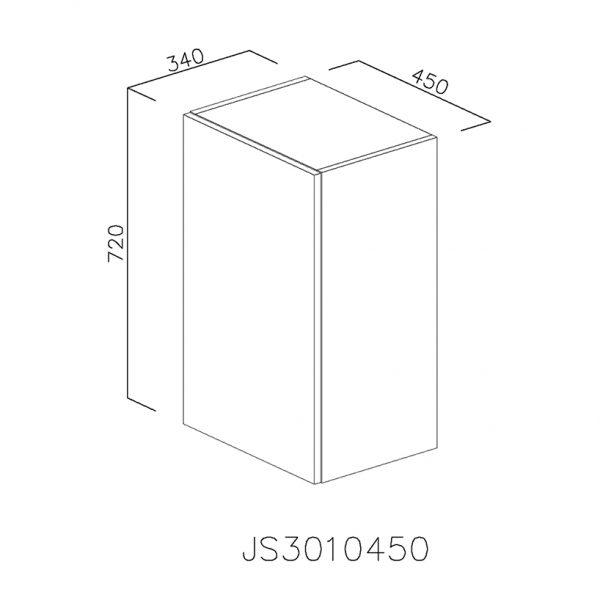 JS3010450 Suspendat cu 1 Usa Verticala 1 Polita si 2 Balamale cu Amortizare Blum
