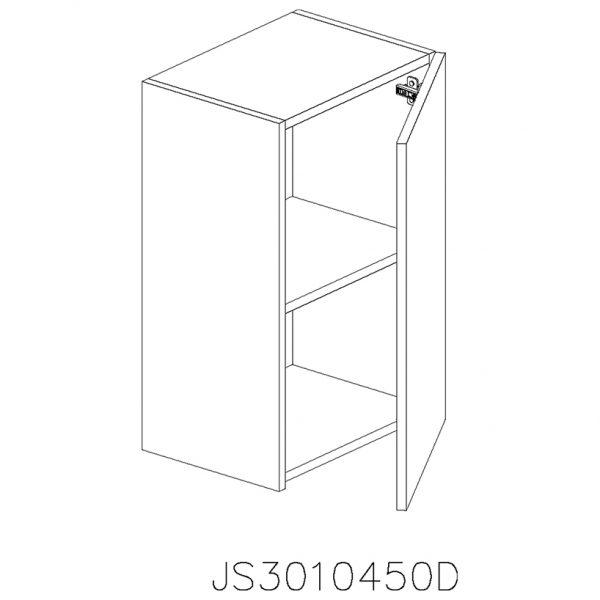 JS3010450D Suspendat cu 1 Usa Verticala 1 Polita si 2 Balamale cu Amortizare Blum cu deschidere pe dreapta