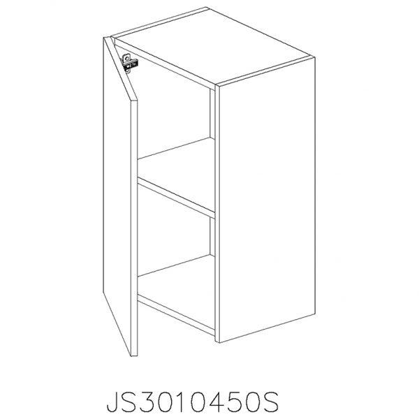 JS3010450S Suspendat cu 1 Usa Verticala 1 Polita si 2 Balamale cu Amortizare Blum cu deschidere pe stanga