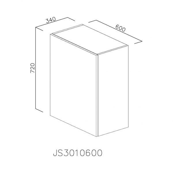 JS3010600 Suspendat cu 1 Usa Verticala 1 Polita si 2 Balamale cu Amortizare Blum