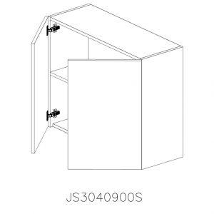 JS3040900 Suspendat cu 2 Usi Verticale 1 Polita si 4 Balamale cu Amortizare Blum deschise