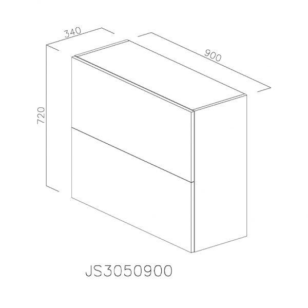 JS3050900 Suspendat cu Hota Elica 320MCH cu 2 Usi Orizontale si 1 Sistem cu AmortizareAventos HF Blum